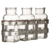 Glass Vases With Metal Basket